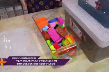Veja dicas para organizar os brinquedos dos seus filhos