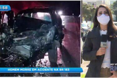 Homem morre em acidente na BR-163