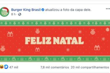 Burger King antecipa o Natal? Entenda o que está acontecendo