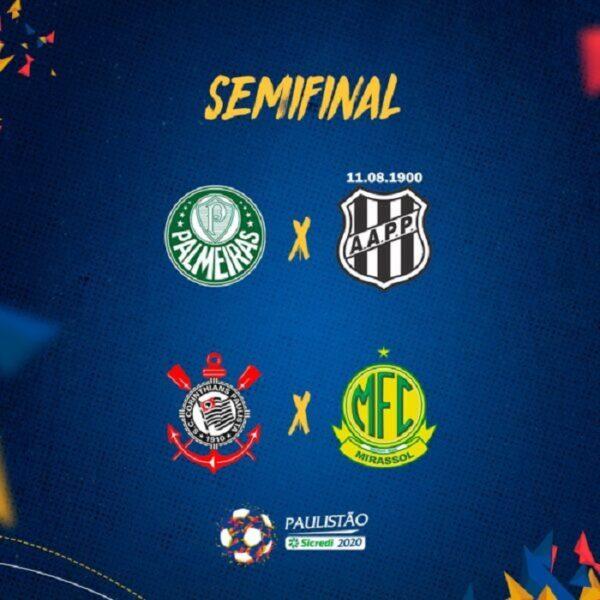 FPF define horários dos jogos da semifinal do Campeonato Paulista