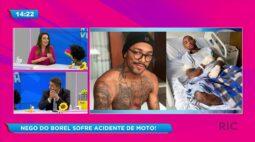 Nego do Borel sofre acidente de moto