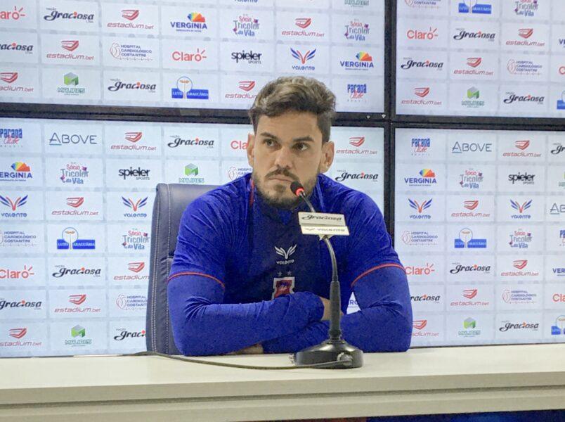 Capitão Fabrício acredita que Paraná pode brigar entre os primeiros na Série B