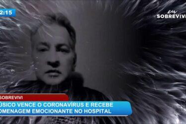 Eu sobrevivi: músico vence o coronavírus e recebe homenagem emocionante no hospital