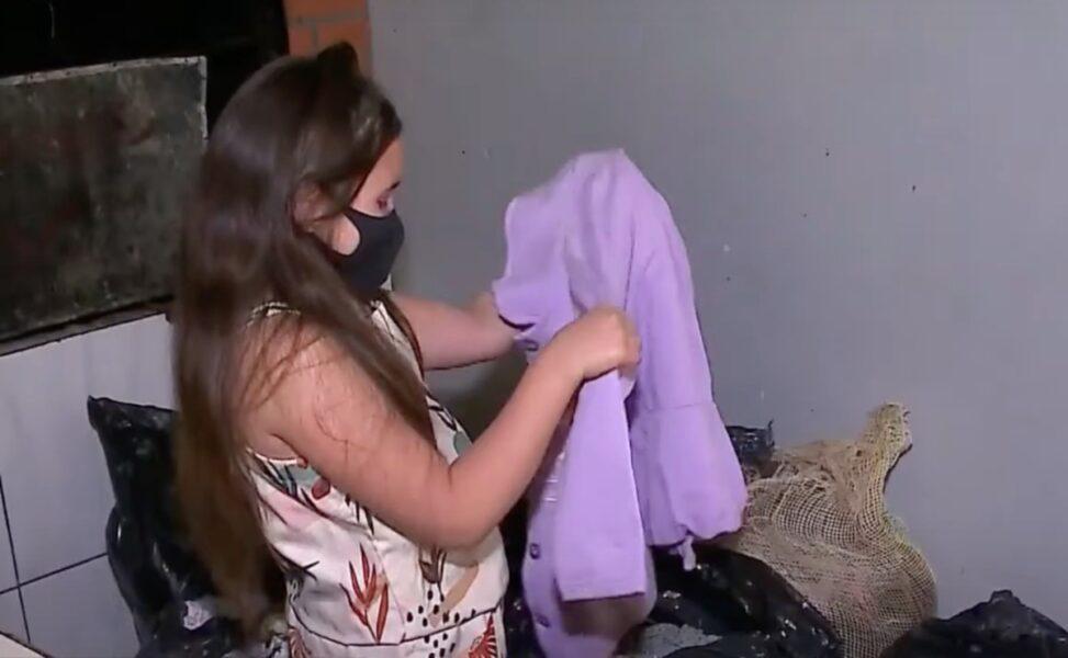 Menina de 10 anos cria campanha de arrecadação de agasalhos