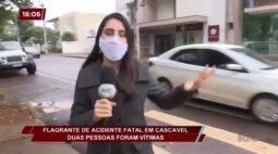 Flagrante de acidente fatal em Cascavel: duas pessoas foram vítimas