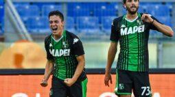Sassuolo marca nos acréscimos e arranca virada contra a Lazio