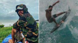 Surfista é surpreendido por tubarão em mar do Rio de Janeiro