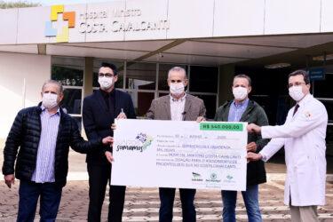 Tecnomyl, do Grupo Sarabia, doa mais de meio milhão de reais para hospital