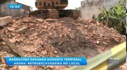 Barracões desabam durante temporal na região central de Londrina