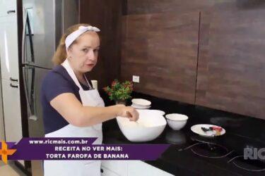 Receita no Ver Mais: Torta farofa de banana