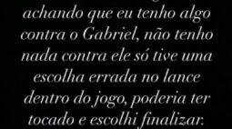 Bruno Henrique nega problemas, mas assume erro e pede desculpas a Gabigol