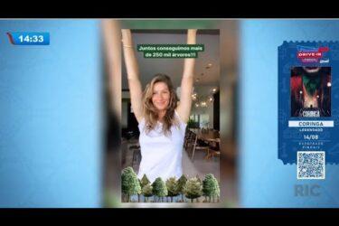 Gisele Bündchen comemora sucesso da campanha de aniversário