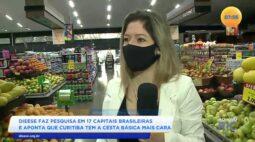 Dieese faz pesquisa em 17 capitais brasileiras e aponta que Curitiba tem a cesta básica mais cara
