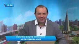 Compras online aumentam no supermercados