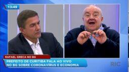 Rafael Greca no BG: Prefeito de Curitiba fala ao vivo sobre coronavírus e economia