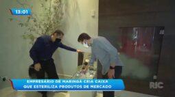 Empresário de Maringá cria caixa que esteriliza produtos de mercado