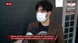 Briga entre vizinhos termina na delegacia: ex-vereador atirou durante a discussão
