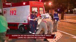 Suspeita de esfaquear pedestre no centro de Curitiba é presa