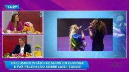 Vitão faz show em Curitiba e faz revelação sobre Luísa Sonza