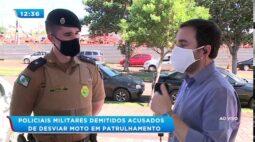Policiais Militares demitidos, eles são acusados de desviar moto em patrulhamento