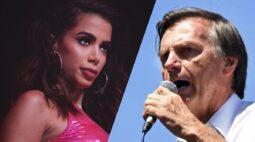 Bolsonaro curte publicação que critica Anitta ter ido em show na Itália