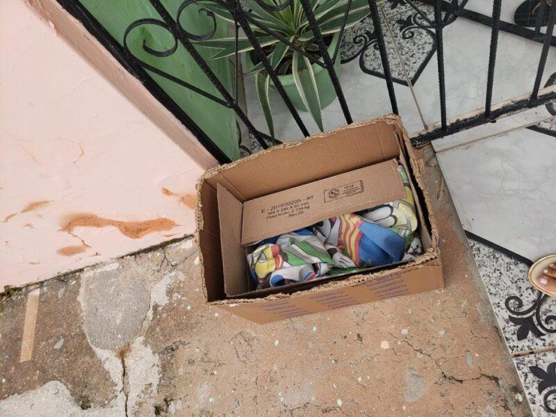 Bebê é abandonado em caixa de papelão no interior do Paraná