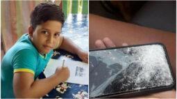 Criança de 11 anos morre eletrocutada enquanto usava celular conectado na tomada