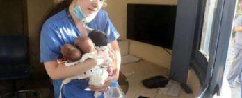Explosão Beirute: enfermeira salva recém-nascidos em hospital destruído