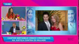 Zezé Di Camargo vence três processos na justiça contra ex-mulher