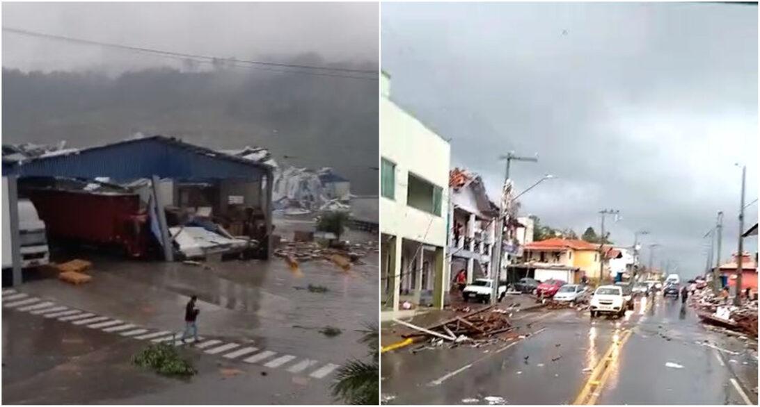 Defesa Civil confirma dois tornados em Santa Catarina; confira imagens