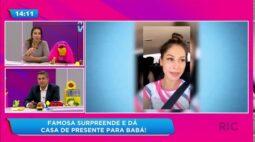 Mayra Cardi surpreende e presenteia babá da filha com casa mobiliada