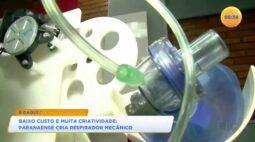 Baixo custo e muita criatividade: paranaense cria respirador mecânico