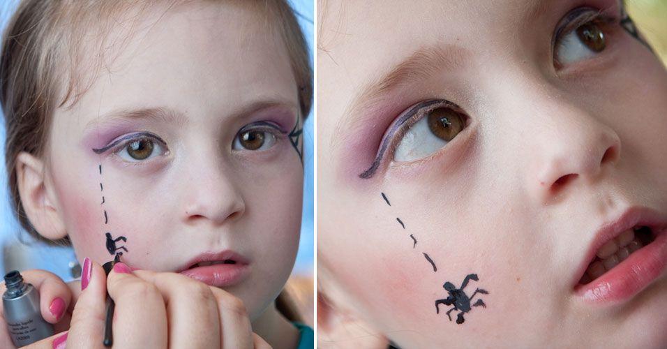 Maquiagem infantil Dia das Bruxas