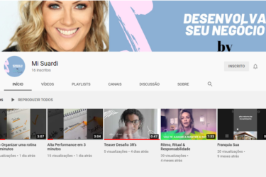 Michelle Suardi lança canal no YouTube sobre alta performance