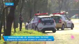 Operação no Jd. Nossa Sra. da Paz: bandidos roubam carro e armas de guardas municipais