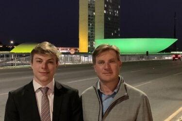 Pré-candidato a prefeitura de Cascavel, Nelsinho Padovane (PTB), concede entrevista para a Joven Pan