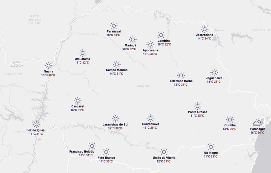 Previsão do tempo: depois de dias frios, Paraná tem um ...