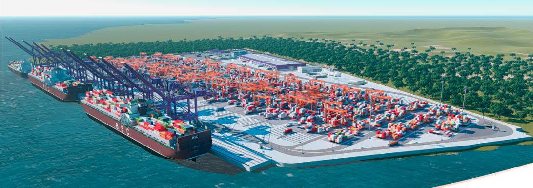 Imagem elaborada pela empresa para divulgação do Porto Pontal Paraná.
