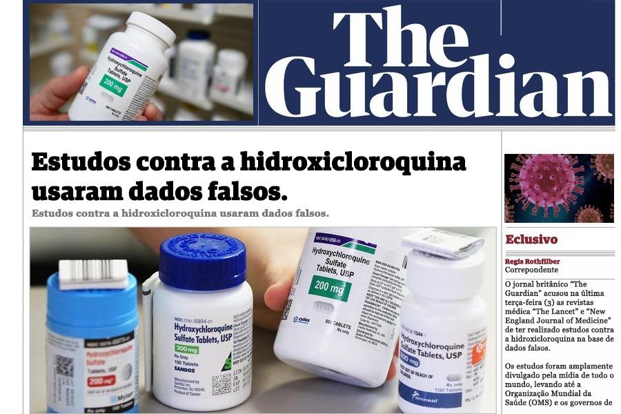 The Guardian descobre a farsa contra estudo que condena a cloroquina e a Hodroxicloroquina