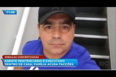 Agente penitenciário é executado dentro de casa; família acusa facções
