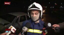 Vizinho bate em carro, deixa três crianças feridas e desaparece depois da colisão