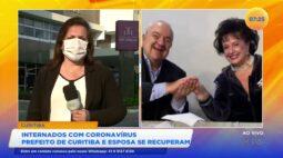 Internados com coronavírus: prefeito de Curitiba e esposa se recuperam