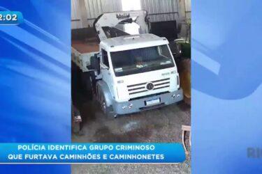 Polícia identifica grupo criminoso que furtava caminhões e caminhonetes