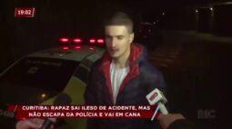 Motorista bêbado capota o carro e escolhe repórter para dar entrevista