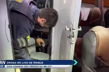 Droga mo lixo de ônibus dois homens são presos na BR 277