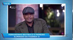 Fernandinho Beatbox é o primeiro eliminado da Fazenda 12