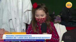 Pequena empreendedora menina de 7 anos cria bazar e faz sucesso