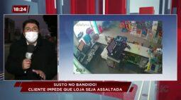 Cliente impede que loja seja assaltada em São José dos Pinhais