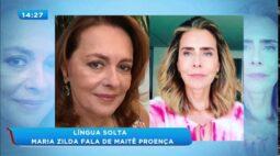 "Maria Zilda alfineta Maitê Proença ""só faz live se pagarem"""