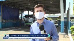 Greve do transporte coletivo em Maringá